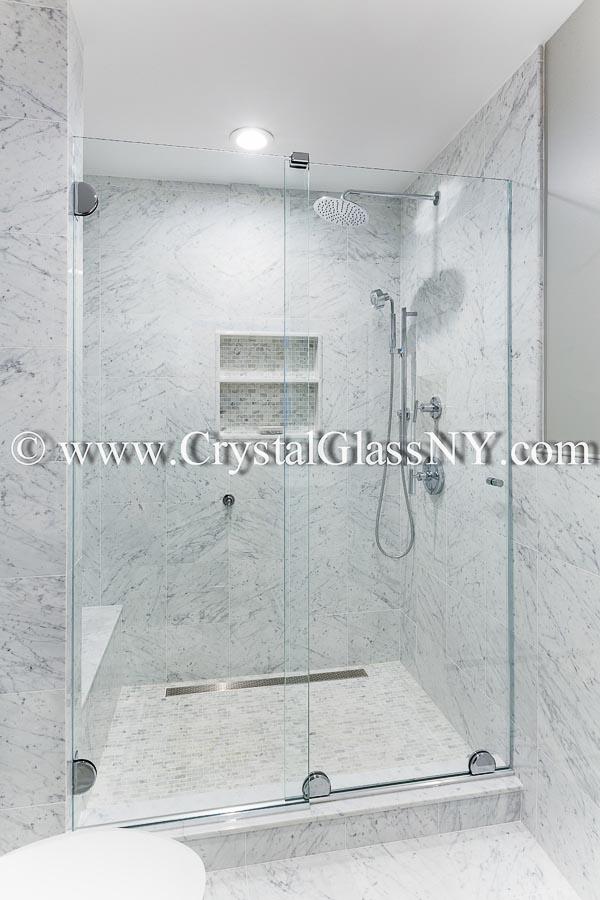ESS1CH headerless sliding door system - Custom Shower Door ...
