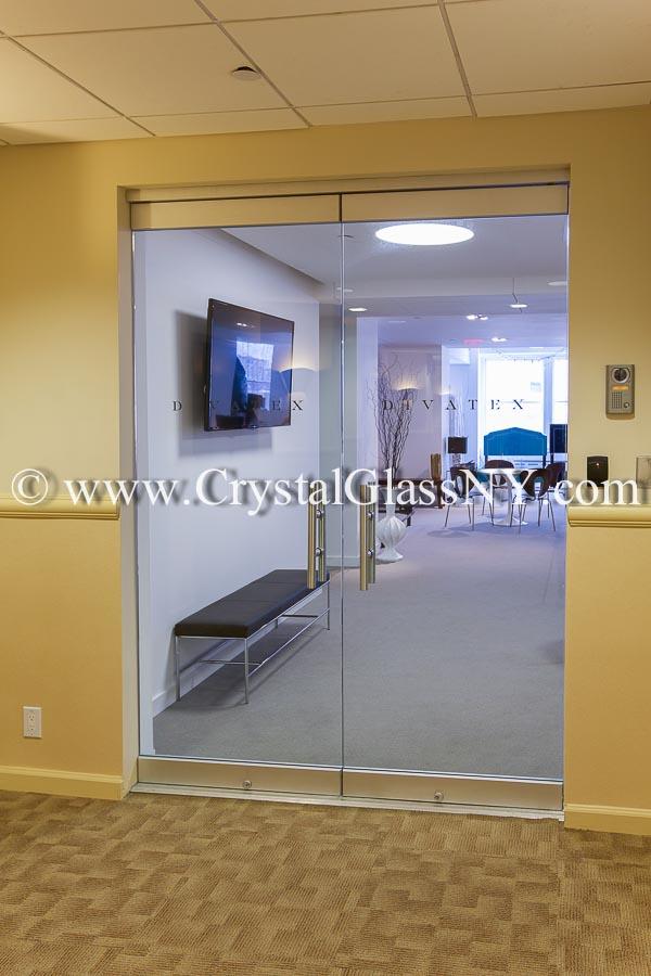 Herculite Glass Door Storefront Installation Gallery